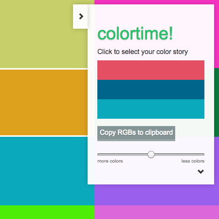 Screenshot of a color picker webpage